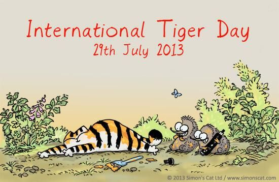 Simon's Cat: Today is International Tiger Day