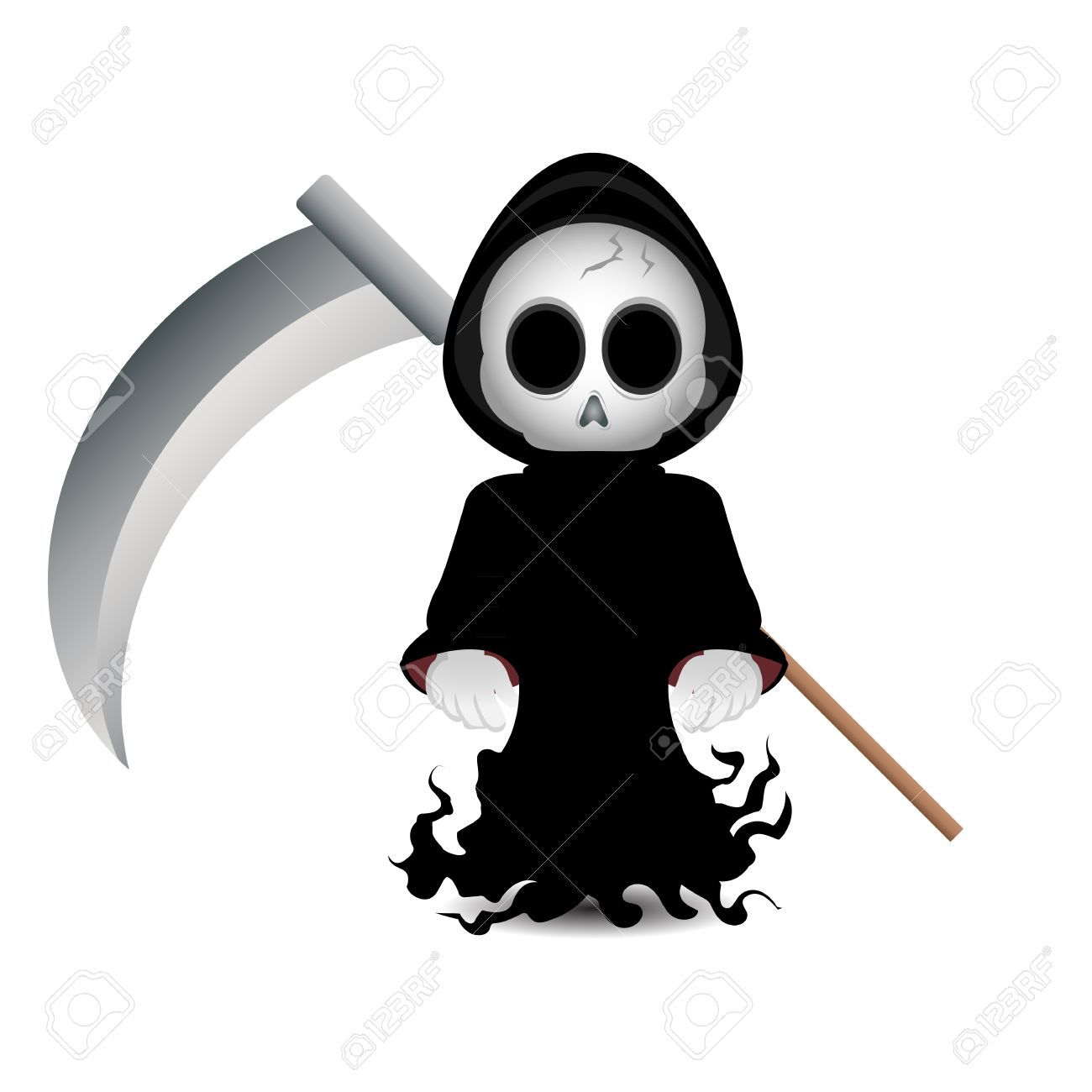 Death Clipart Cute grim reaper clip art | biscuits halloween ...
