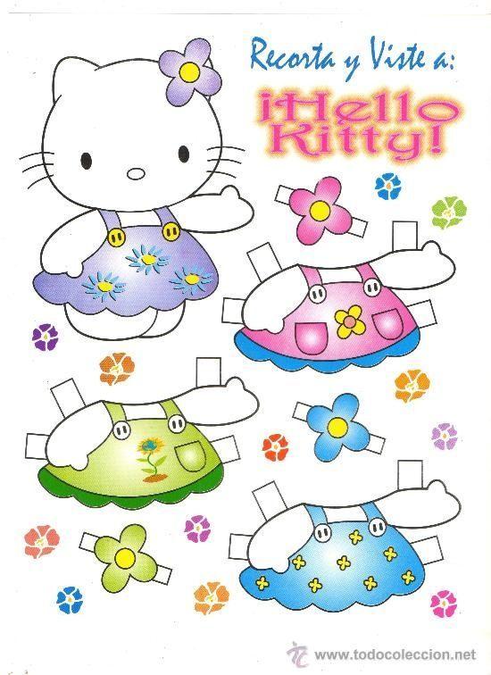 Hello Kitty! (с изображениями) | Бумажные куклы, Бумажные ...