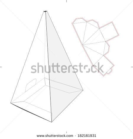 Tall triangle box template google search templates for Triangle packaging template