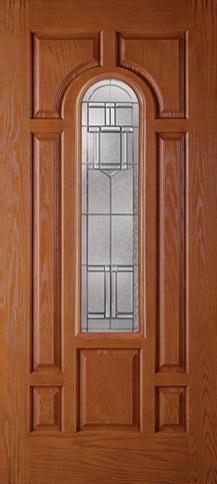 Fiberglass Flush Glazed 7 Panel 1 Lite Artesano Breeze Woodgrain Fiberglass Door Wood Grain Front Door Styles