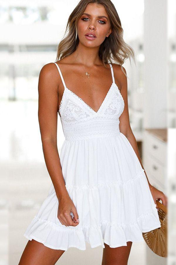 19+ White spaghetti strap dress ideas