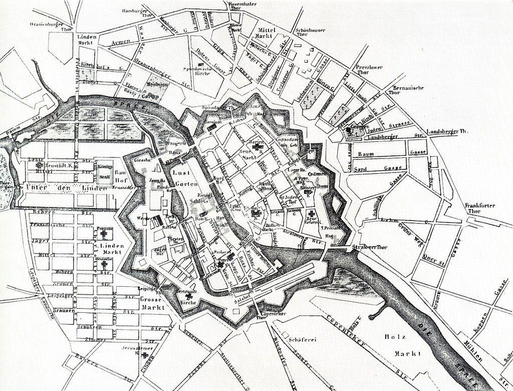Festung Berlin Wikipedia Plan Von Berlin Um 1710 Berlin Karte
