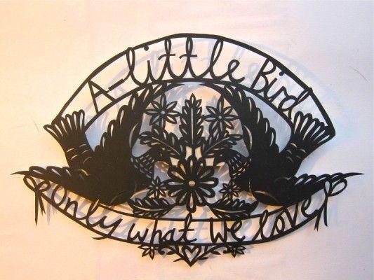 A little bird papercut by Poppy Chancellor #papercut #bird #craft hand made by Poppy Chancellor. Www.poppychancellor.com