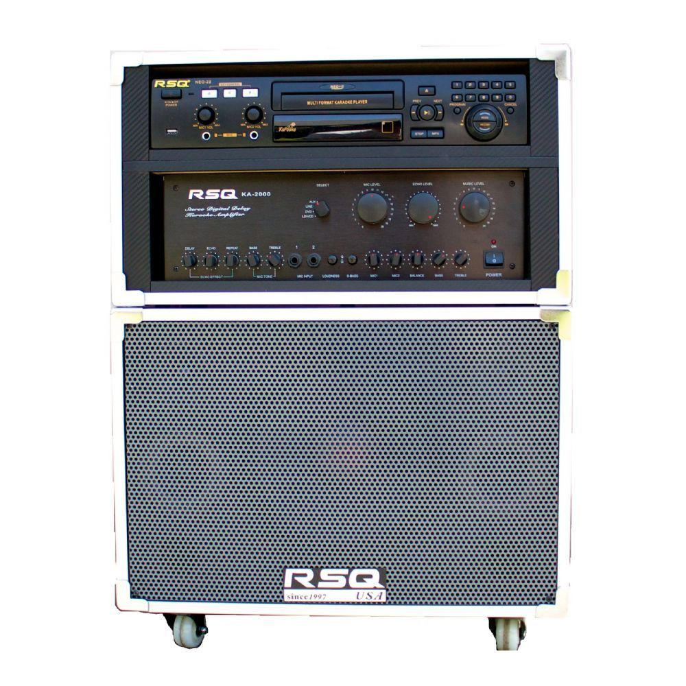 Portable Karaoke System w/NEO-22 Mult-Format Karaoke Player Supported formats: NEO+G/CD+G/DVD/MP3