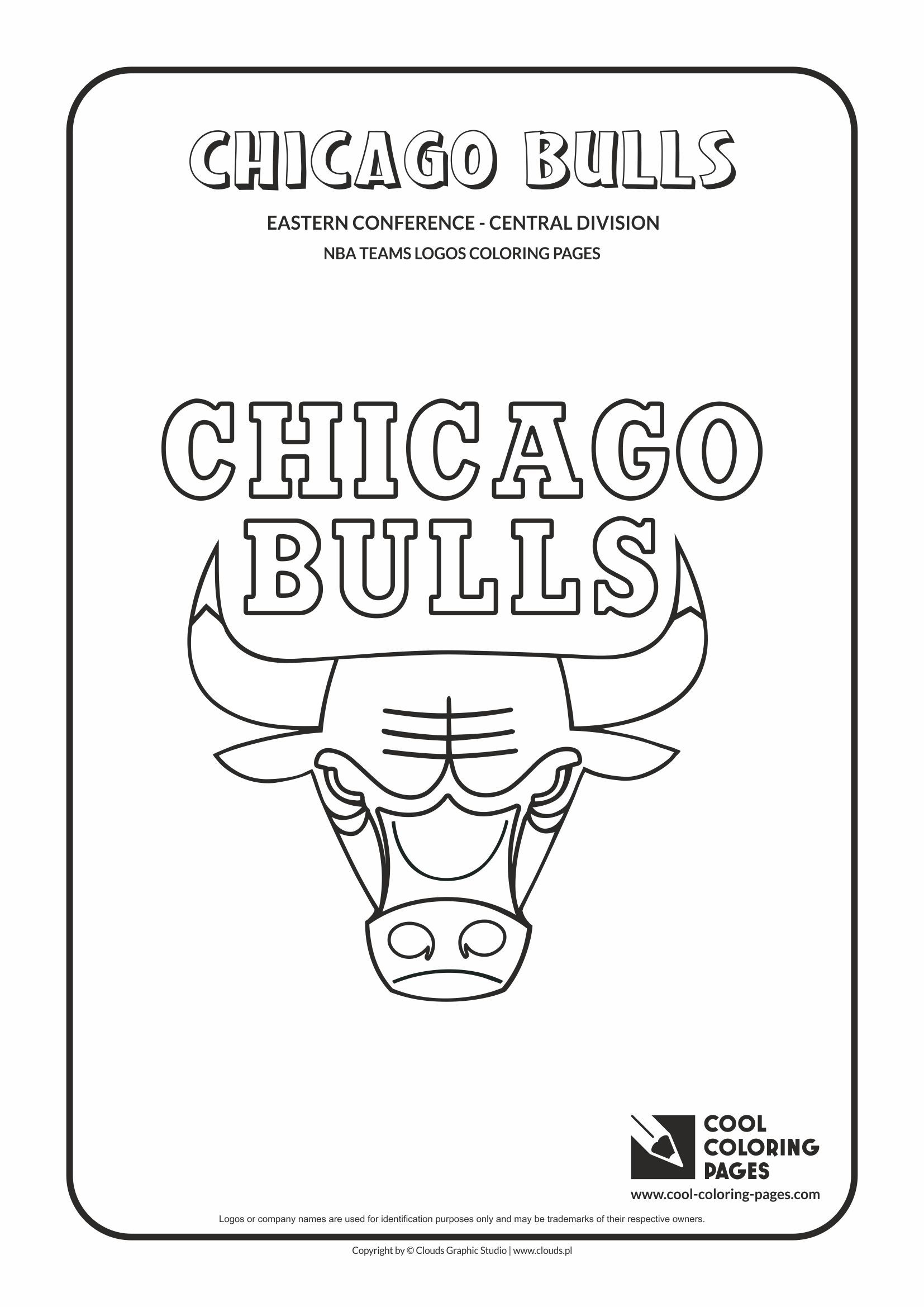 Cool Coloring Pages Nba Teams Logos Chicago Bulls Logo