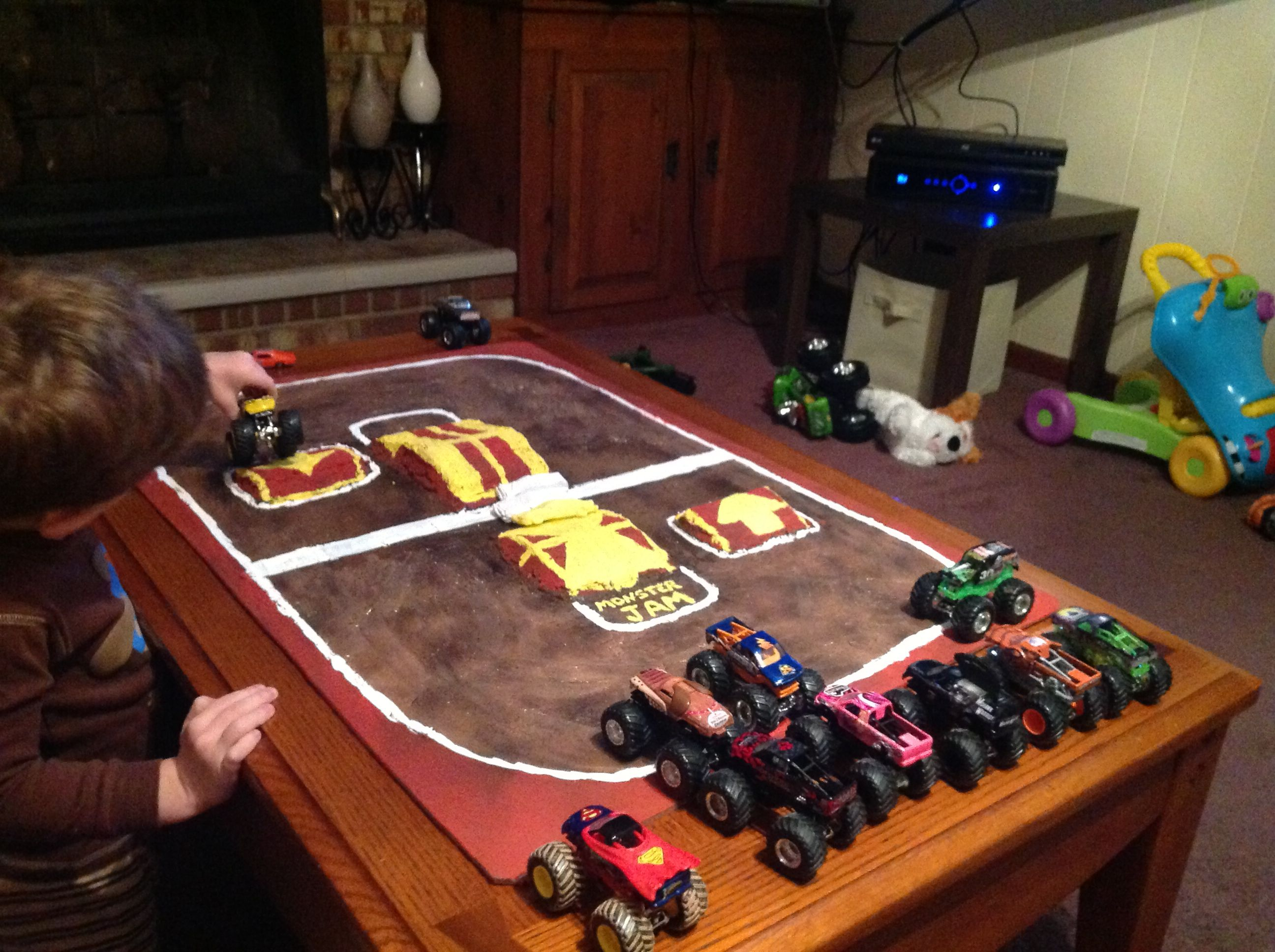 monster jam track for the old train table | play | monster
