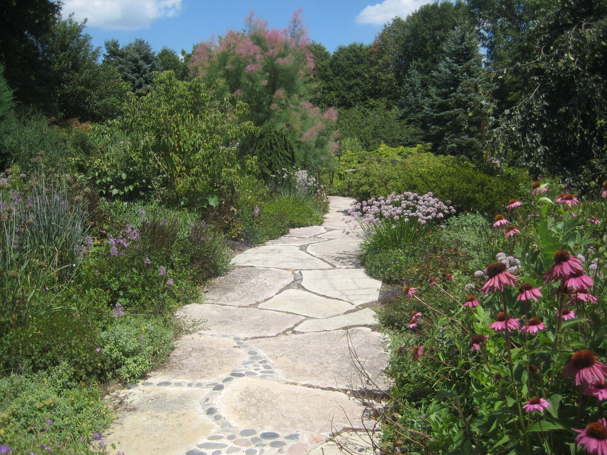 Stone Garden Farms A stone path designed by steve coster co owner of northwind a stone path designed by steve coster co owner of northwind perennial farm in workwithnaturefo