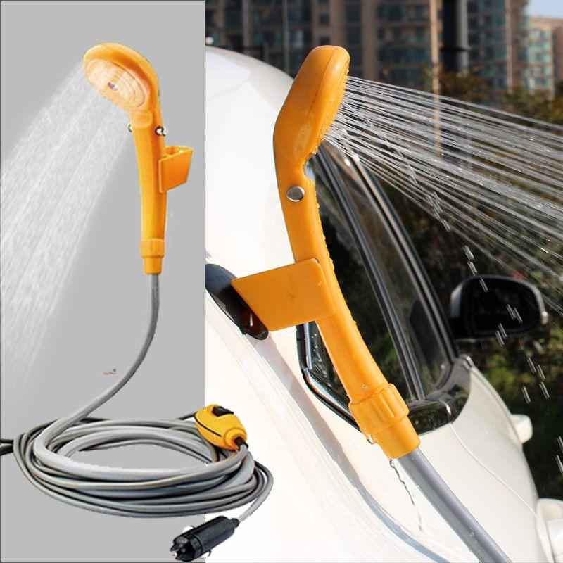 Kaufen Auto Waschmaschine portable Camping Dusche set USB