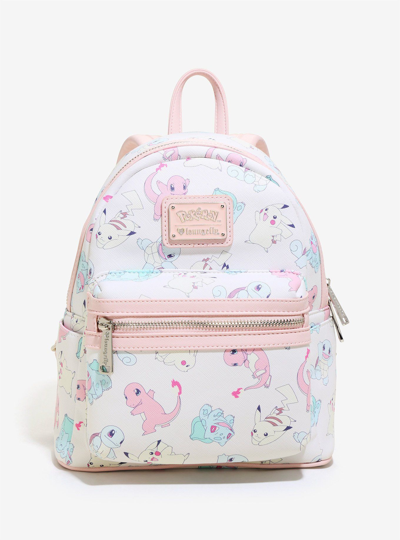 Pokemon X Loungefly Starters Pastel Mini Backpack  0701fac8225e1