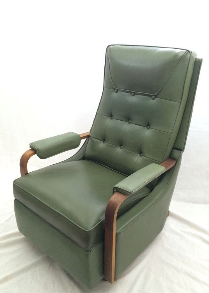 Beau Vintage La Z Boy Recliner Avocado Green Mid Century Rocker Lounge Chair  Lazy Boy
