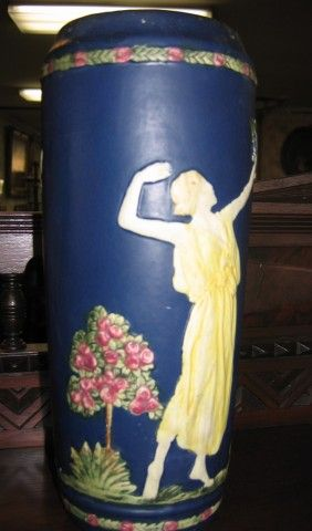 Pottery Vase Apples Maiden 11 Tall On Art Ceramicspottery