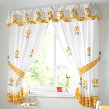 Sunflower Curtains Kitchen New Inspiration Ideas