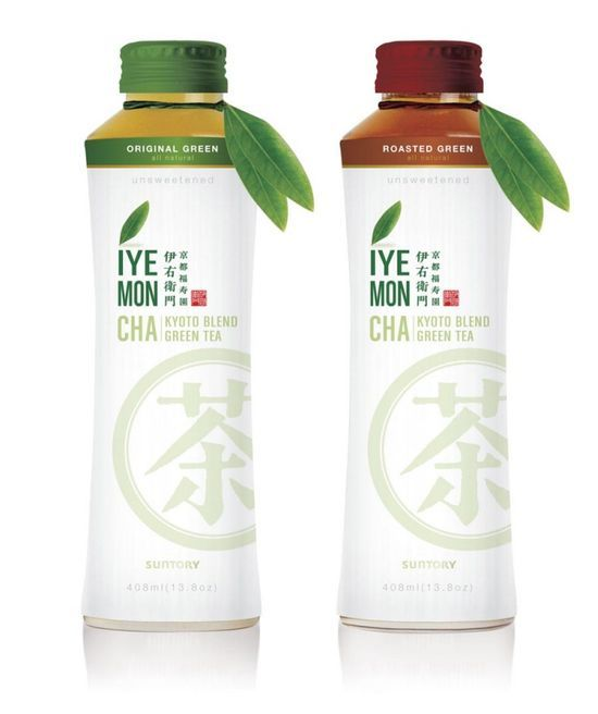 concept for suntory s iyemon cha green tea package design