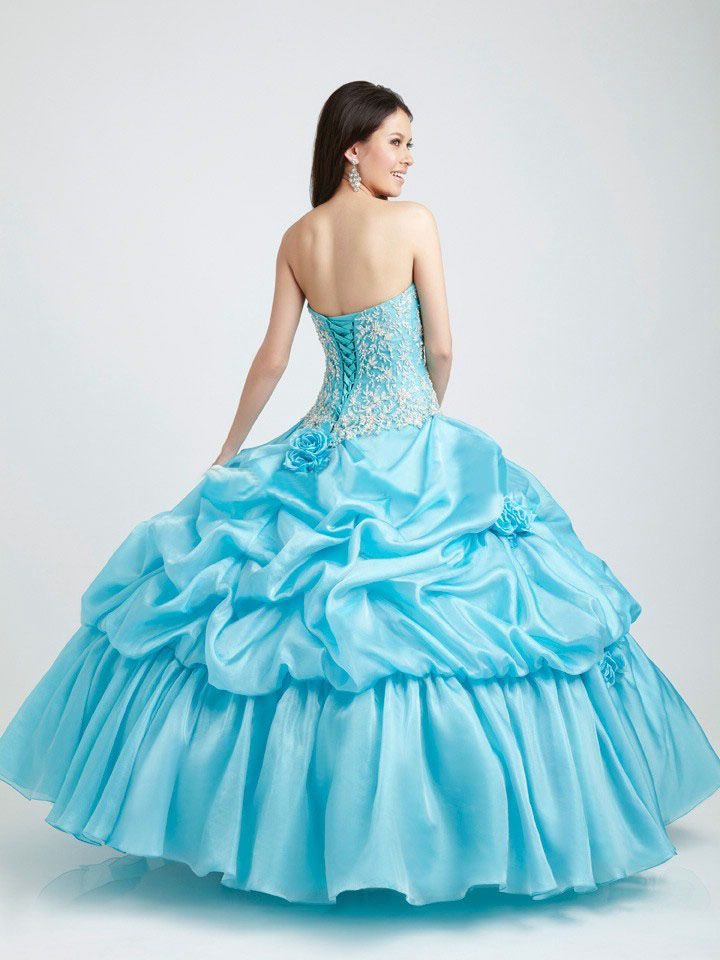 Aliexpress.com : Buy 2016 Light Blue Puffy Quinceanera Dresses ...