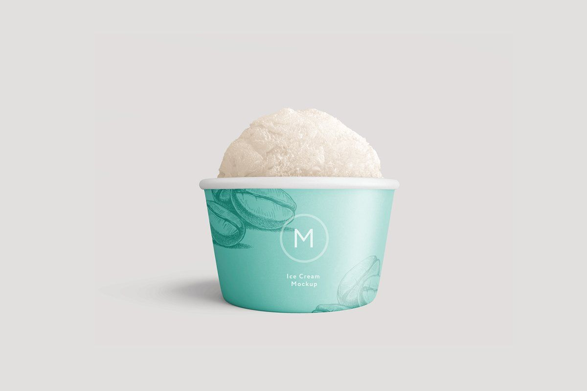 Ice Cream Paper Cup Mockup Ice Cream Packaging Ice Cream Packaging Mockup