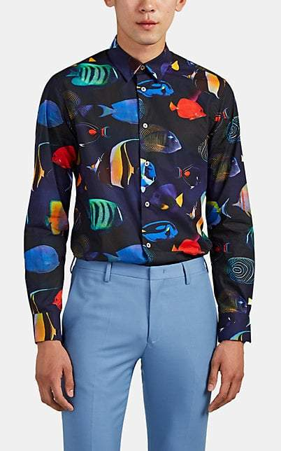 ab68dfdabfd68f Paul Smith MEN'S FISH in 2019   Products   Shirts, Printed cotton ...