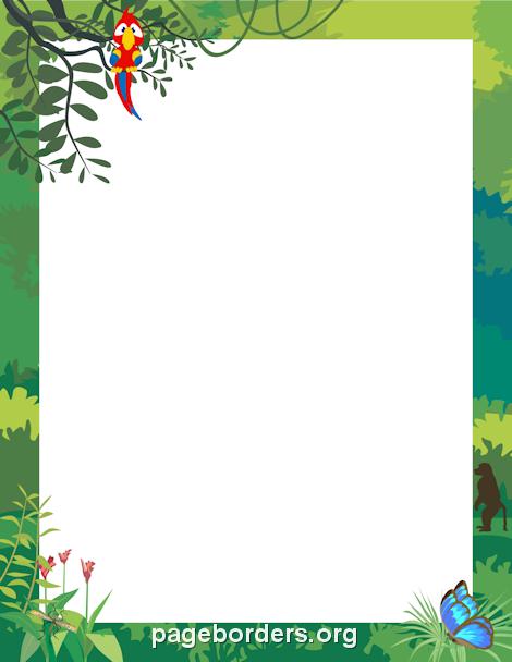 Jungle Border Jungle border, Clip art borders, Clip art