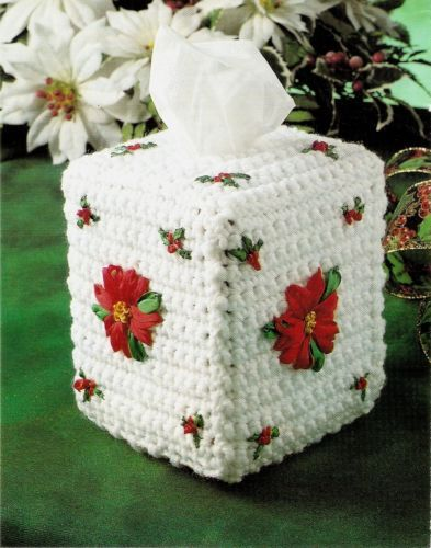 LOVELY-Christmas-Poinsettia-Tissue-Cover-Decor-Crochet-Pattern ...