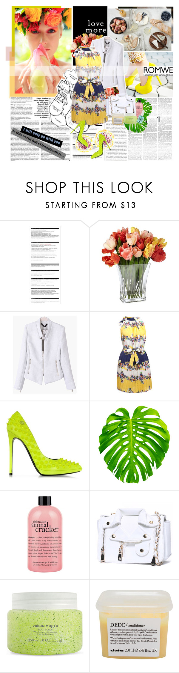 """romwe"" by stelladrmwn ❤ liked on Polyvore featuring Pixie, Chanel, Arche, Philipp Plein, philosophy, Davines and Obsessive Compulsive Cosmetics"