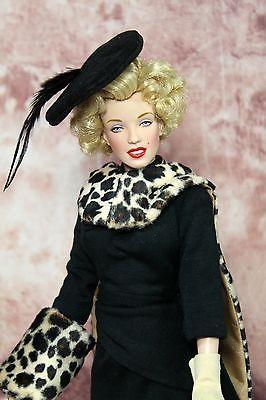 SEWING PATTERN+FABRIC Style 159 Film Inspired Dress Franklin Mint Marilyn Monroe