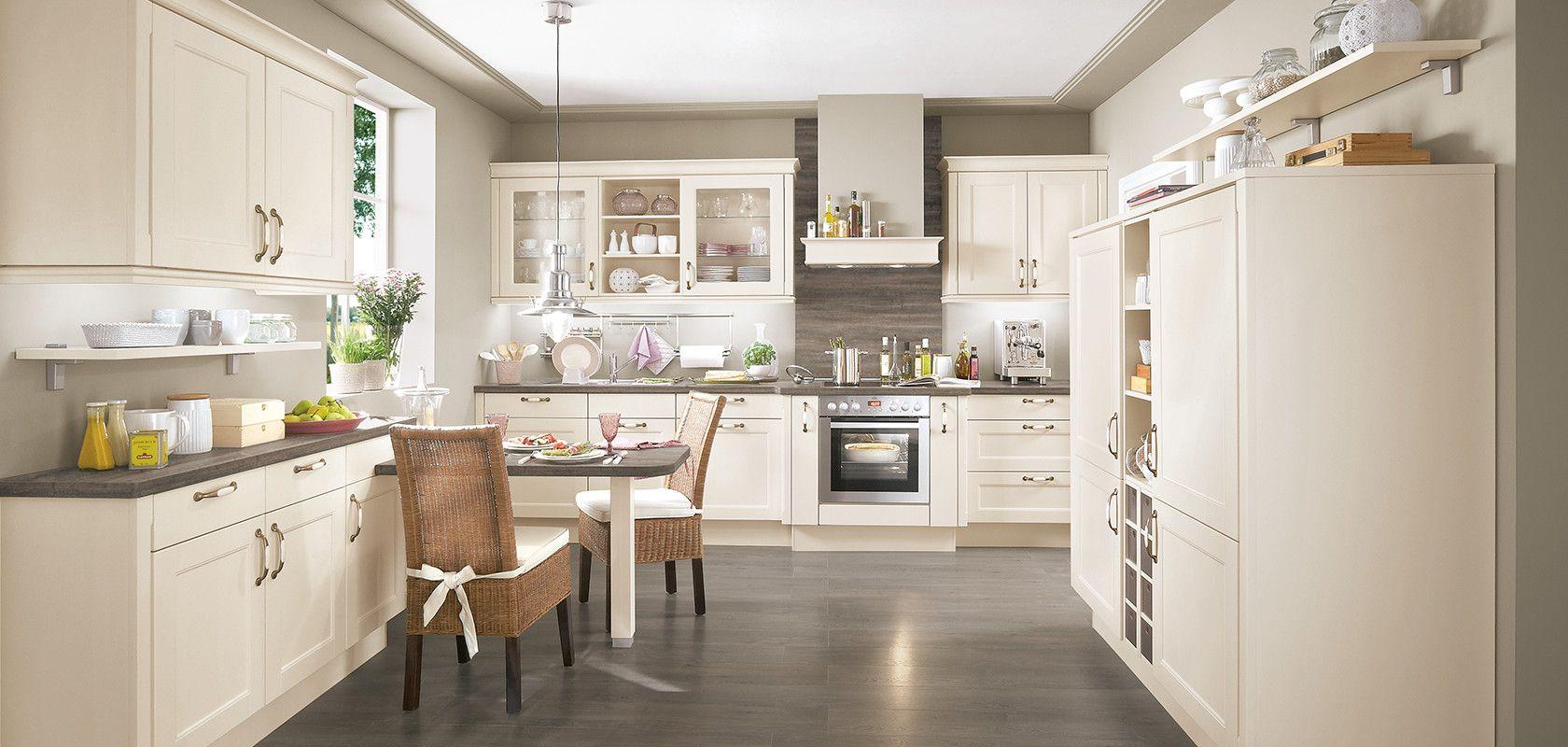 LUCCA 20, Magnolia matt (Moderner Landhaus-Stil)  nobilia Küchen