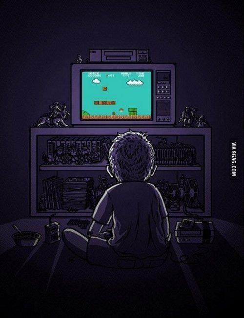 Gambar Tv Animasi : gambar, animasi, Childhood., Ilustrasi, Komik,, Animasi, Gambar, Digital