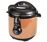 CooksEssentials 6.5 qt. Round Nonstick Stainless Steel Pressure Cooker Shop