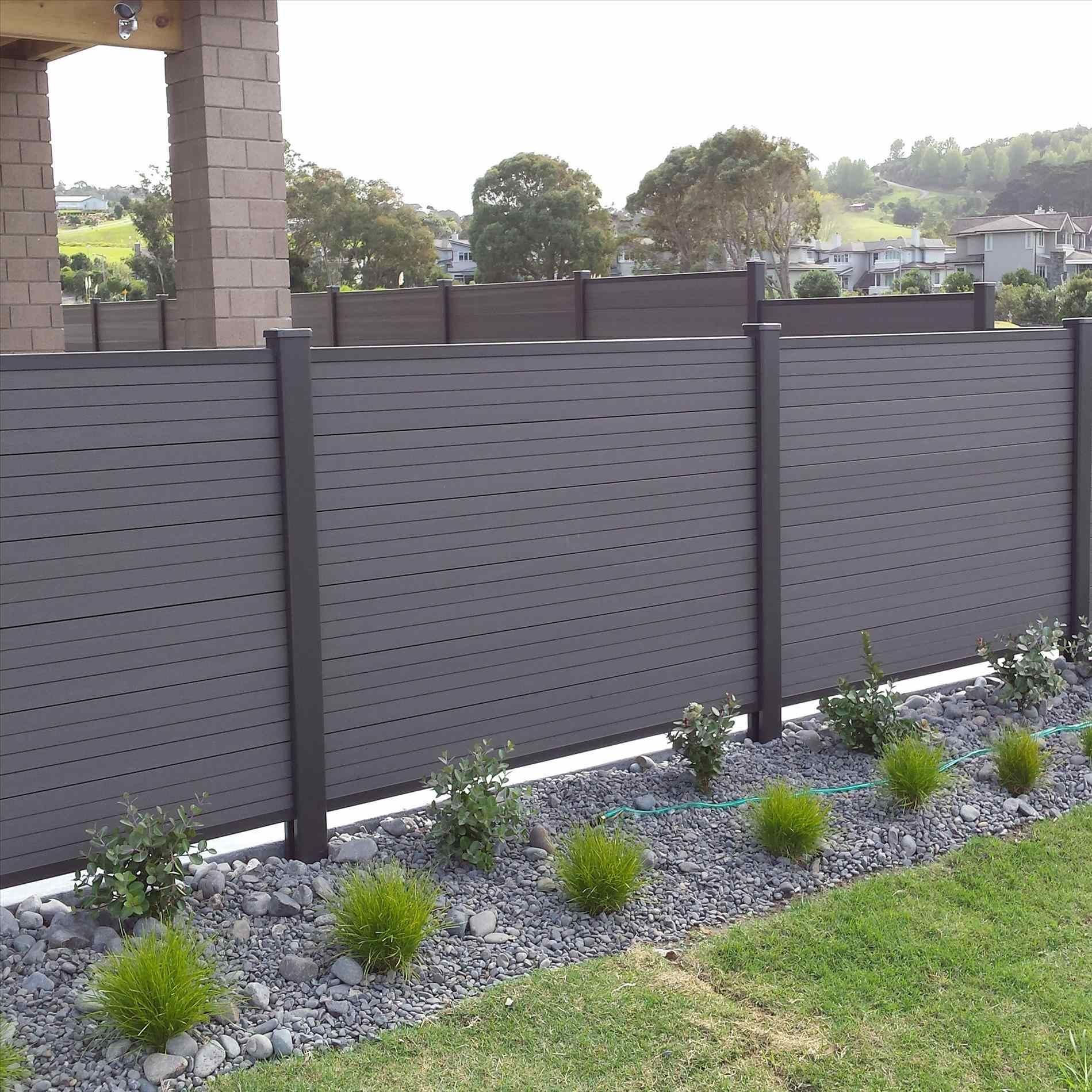Vinyl Fencing Slats Backyard Landscaping Fence Intended For Proportions 1900 X 1425 Horizontal Slat Vinyl Fence Backyard Fences Fence Design Vinyl Fence Panels