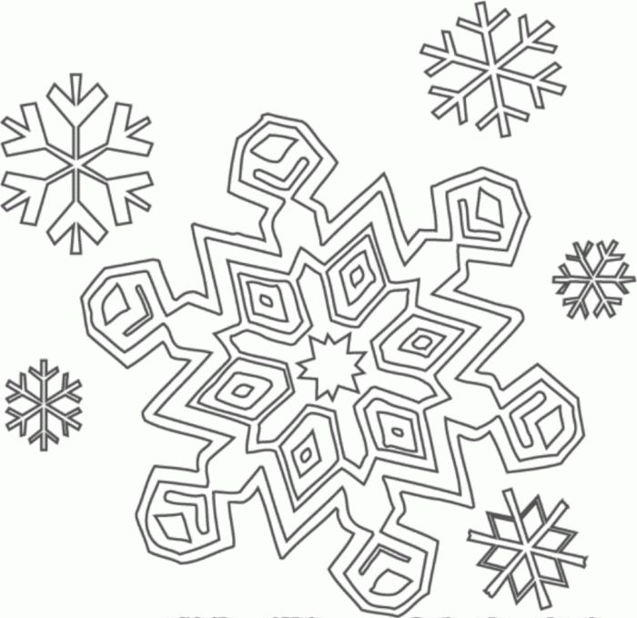 Coloring Pages Snowflake Coloring Pages Coloringidu Snowflake ...