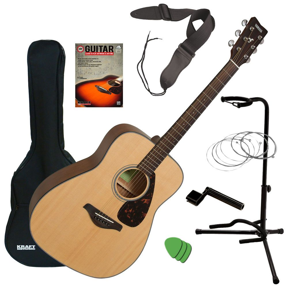 Yamaha Fg800 Acoustic Guitar Natural Guitar Essentials Bundle Yamaha Guitar Acoustic Guitar For Sale Guitar Tuners