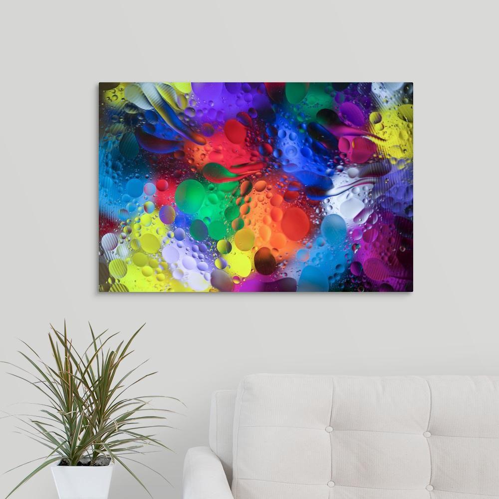 Oil Rig Platform Canvas Giclee Home Fine Wall Art Prints Colorful Print Decor