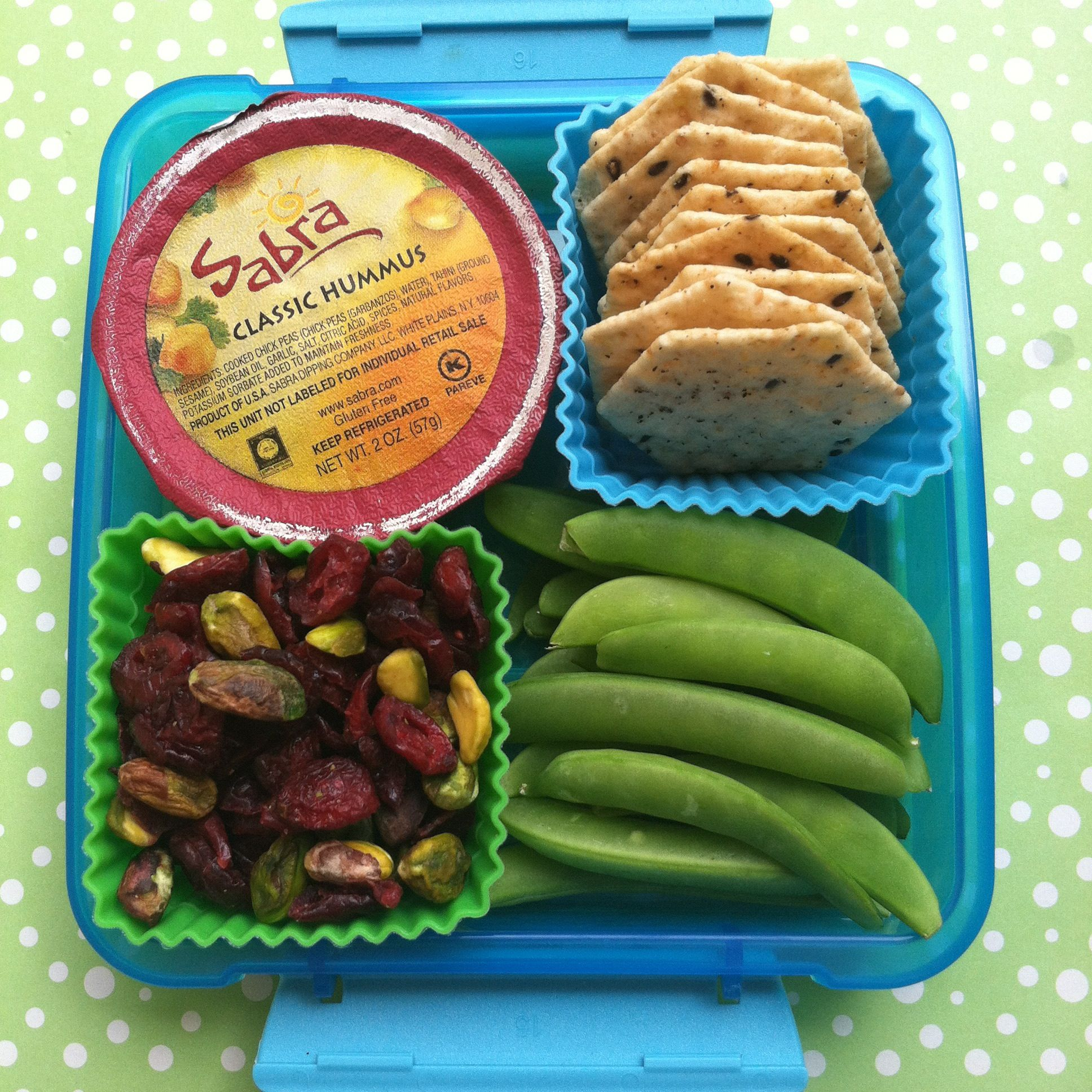 @Sabra hummus, snap pea and trail mix #bento packed in a @sistema container