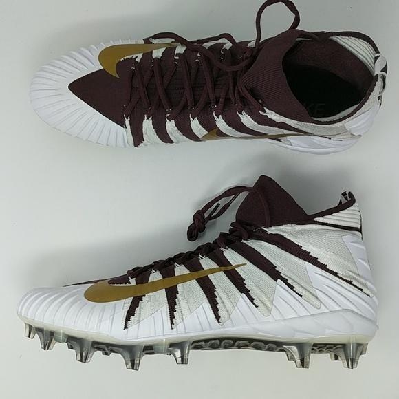 new styles 45df0 599b8 Nike Alpha Menace Elite Football Cleats Maroon Metallic Gold SZ 18 ( 8 –  LoneSole