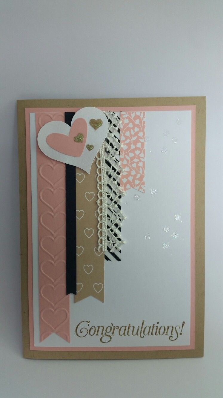Congratulations Classic Banner Wedding Card Love Cards Pinterest