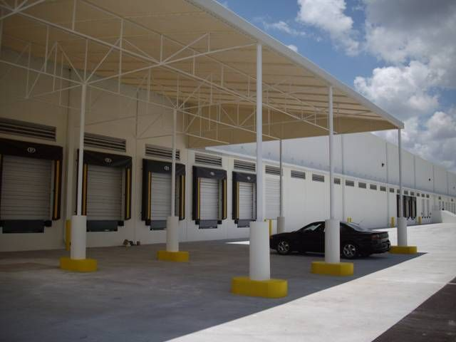 Loading Dock Awnings Canopy For Warehouse Loading Dock