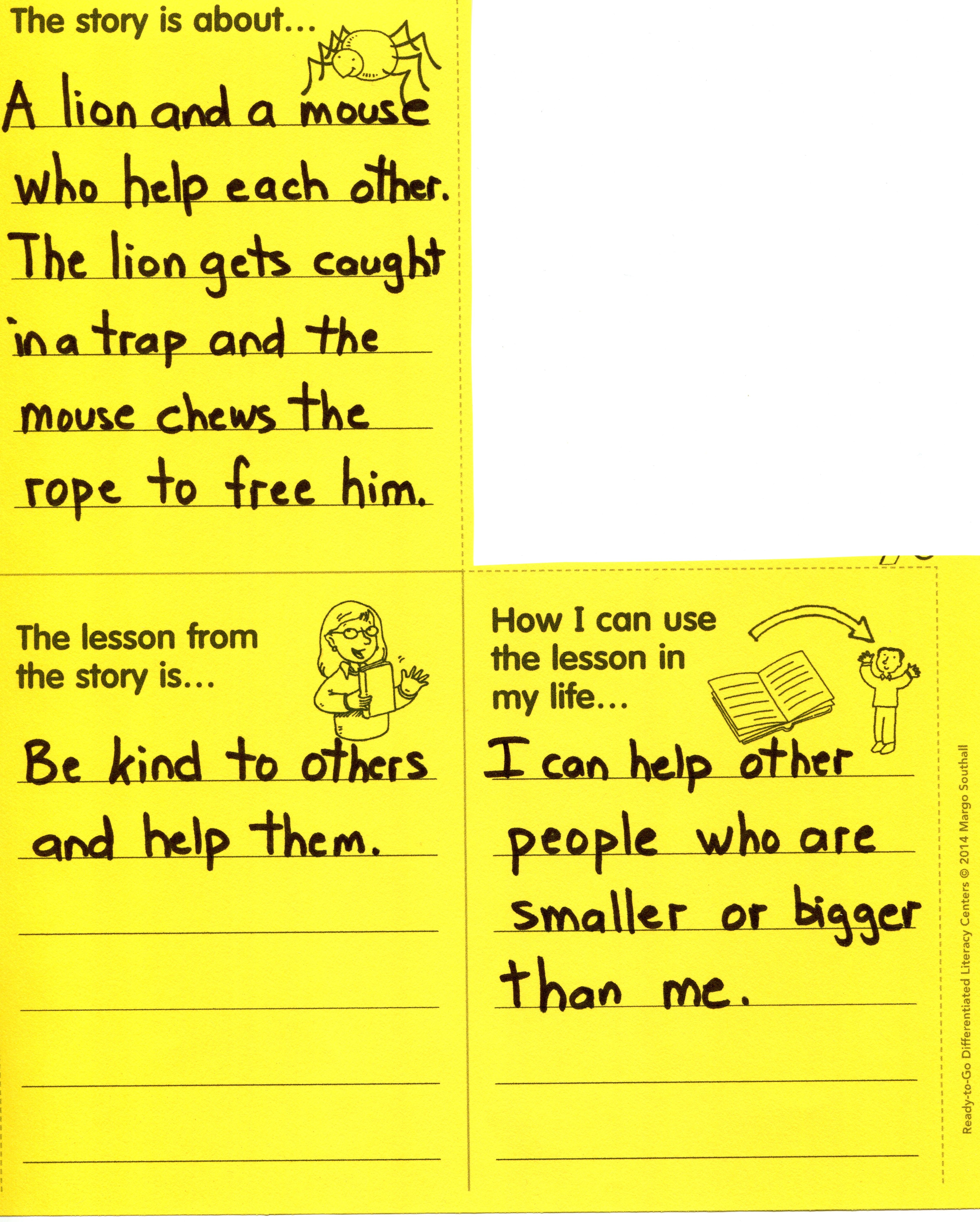 In This Comprehension Center Task Students Summarize The