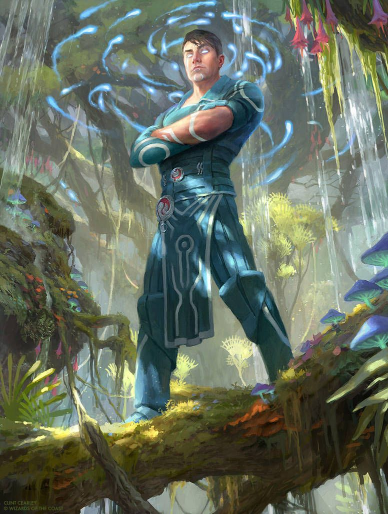 Jace ingenious mind mage mtg by clintcearley male rpg magic