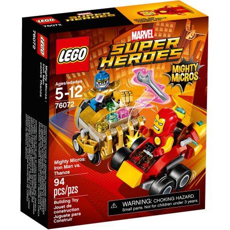 LEGO Super Heroes Mighty Micros: Iron Man vs Thanos 76072 $2.50 orig ...