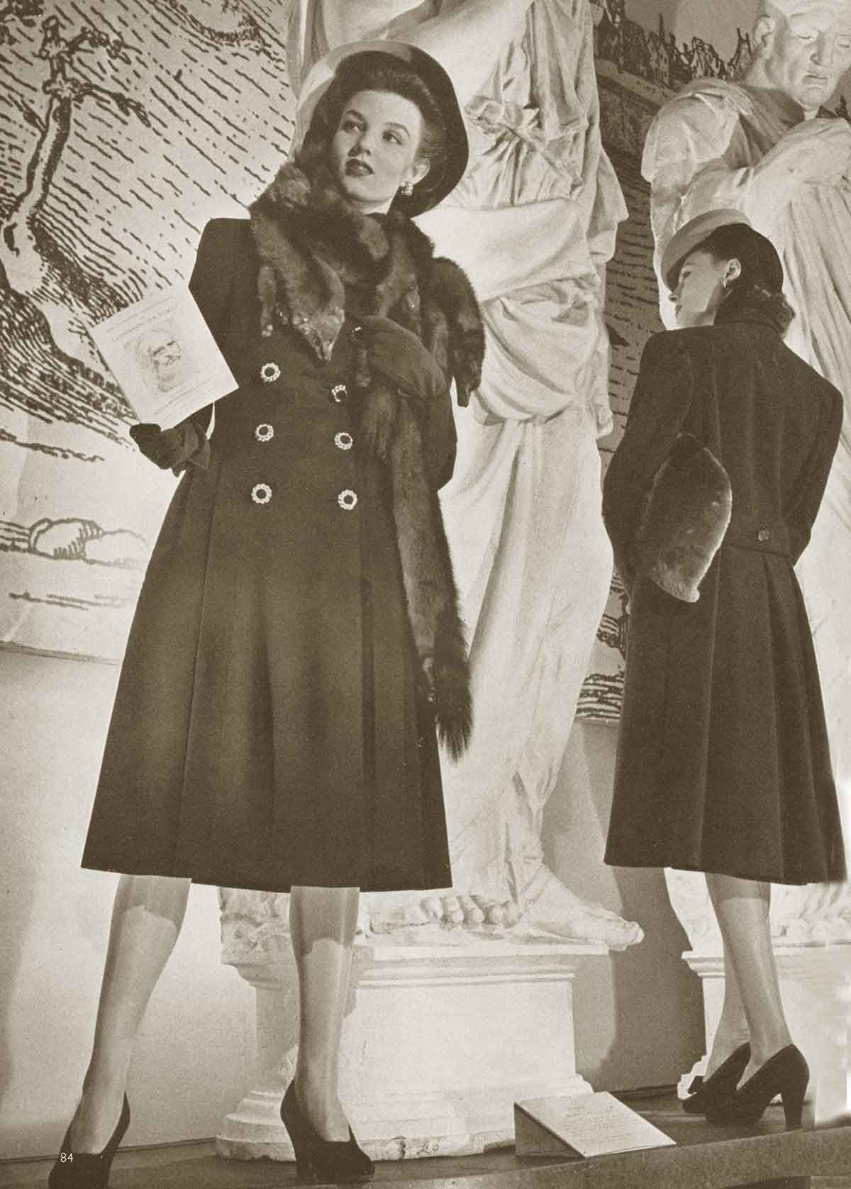 1940 Vogue Fashion - Winter Coats and Dresses | 1940s ...