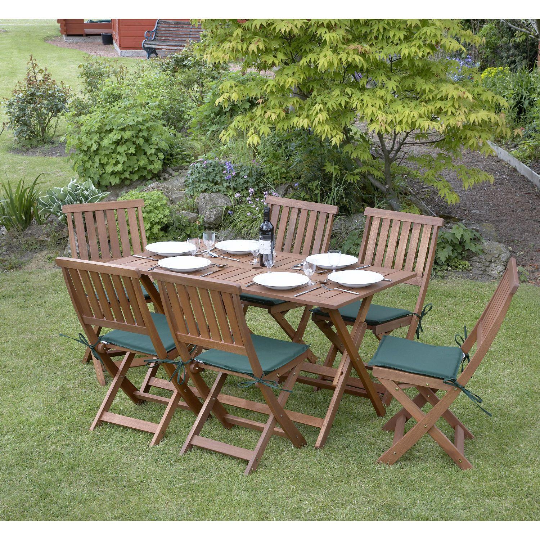 Concord 6 Seater Folding Garden Set Hardwood Garden Furniture Outdoor Furniture Garden Dining Set
