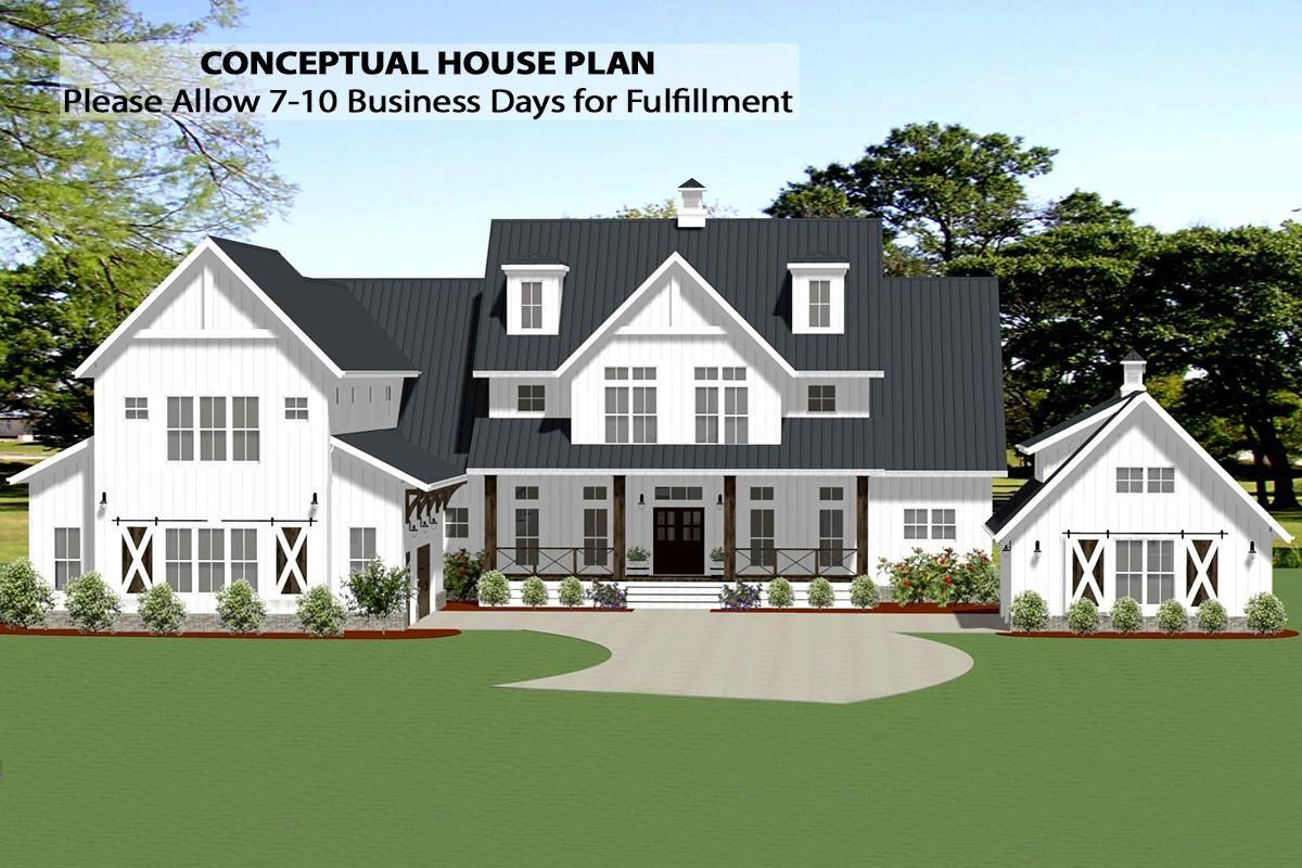 House Plan 6849 00090 Modern Farmhouse Plan 5 001 Square Feet 5 Bedrooms 5 Bathrooms Porch House Plans Modern Farmhouse Plans Farmhouse Plans