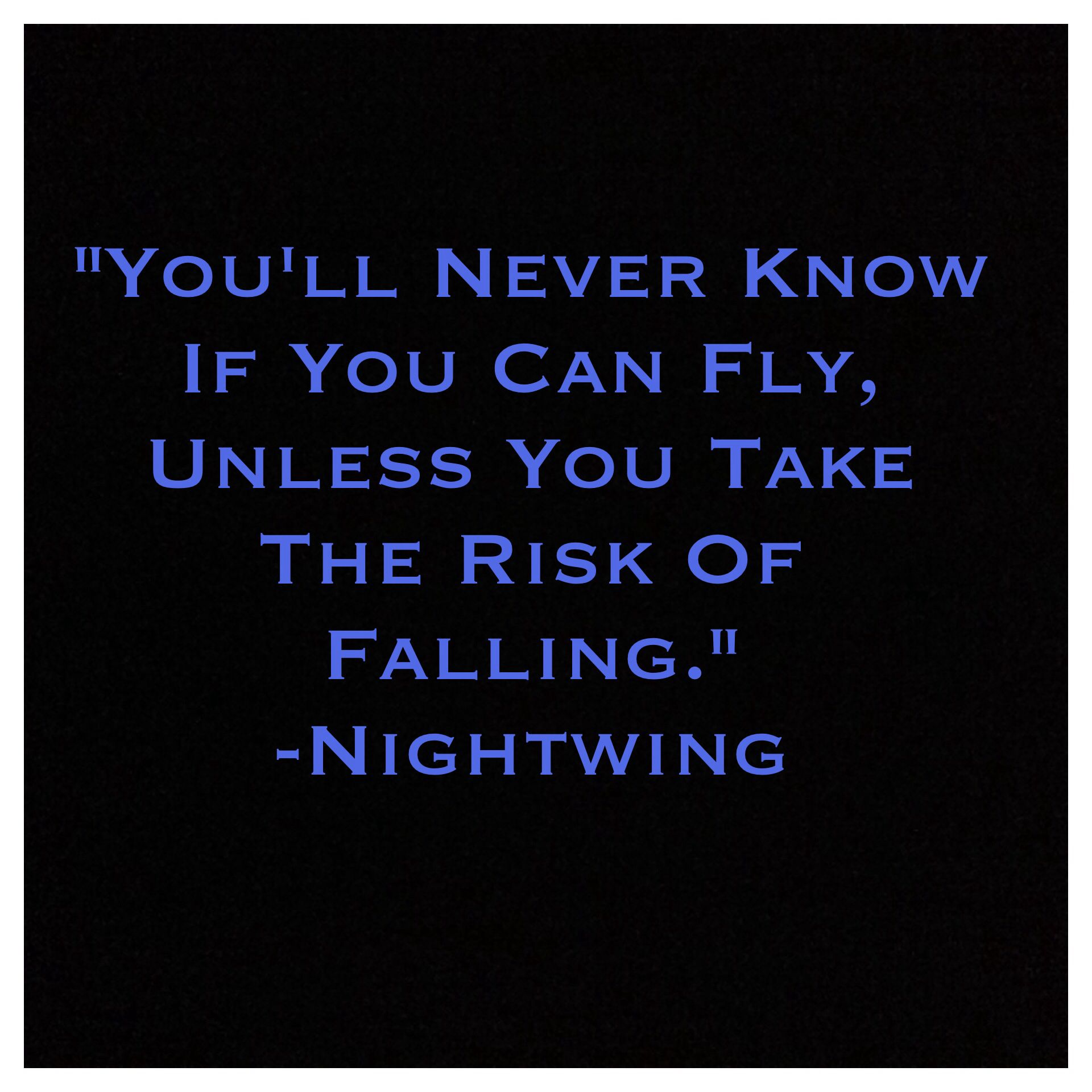 One of my favorite Nightwing quotes