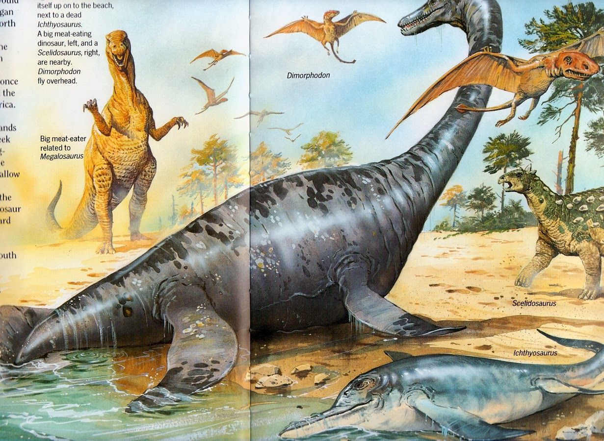 Vintage Dinosaur Art Dinosaurs Giants Of The Earth With Images