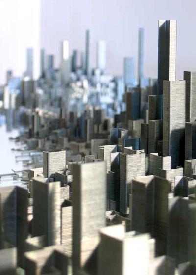 Very interesting artwork by various artists.  Cardboard sculptures, odd things.