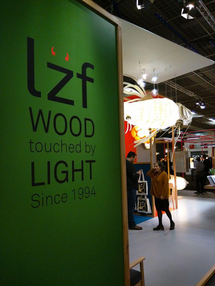 """""""Auf dem Weg zum Messestand von LZF Lamps auf der Frankfurter Light & Building 2016."""""""
