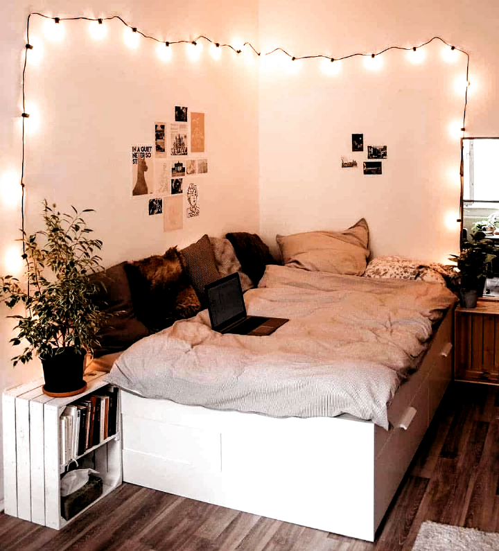 45 Minimalistisches Schlafzimmer Dekorationsideen Die Bequem Sind Minimalistis Amenagementmaison Beque In 2020 Dorm Room Decor Minimalist Bedroom Small Bedroom