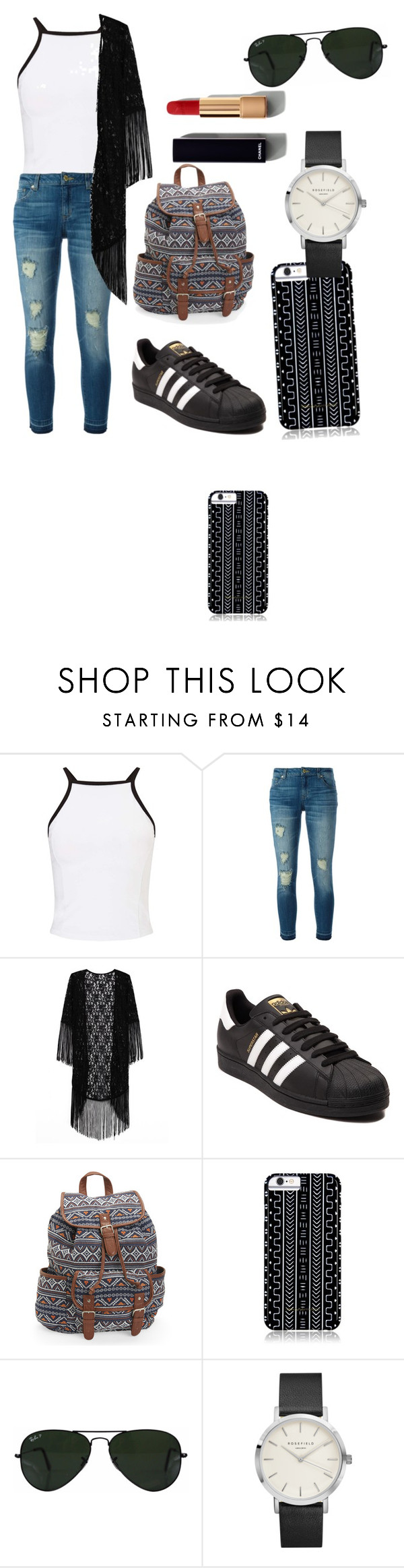 """""""carcelllllkkkkll"""" by sofilo2016 ❤ liked on Polyvore featuring Miss Selfridge, MICHAEL Michael Kors, adidas, Aéropostale, Savannah Hayes, Ray-Ban and Chanel"""