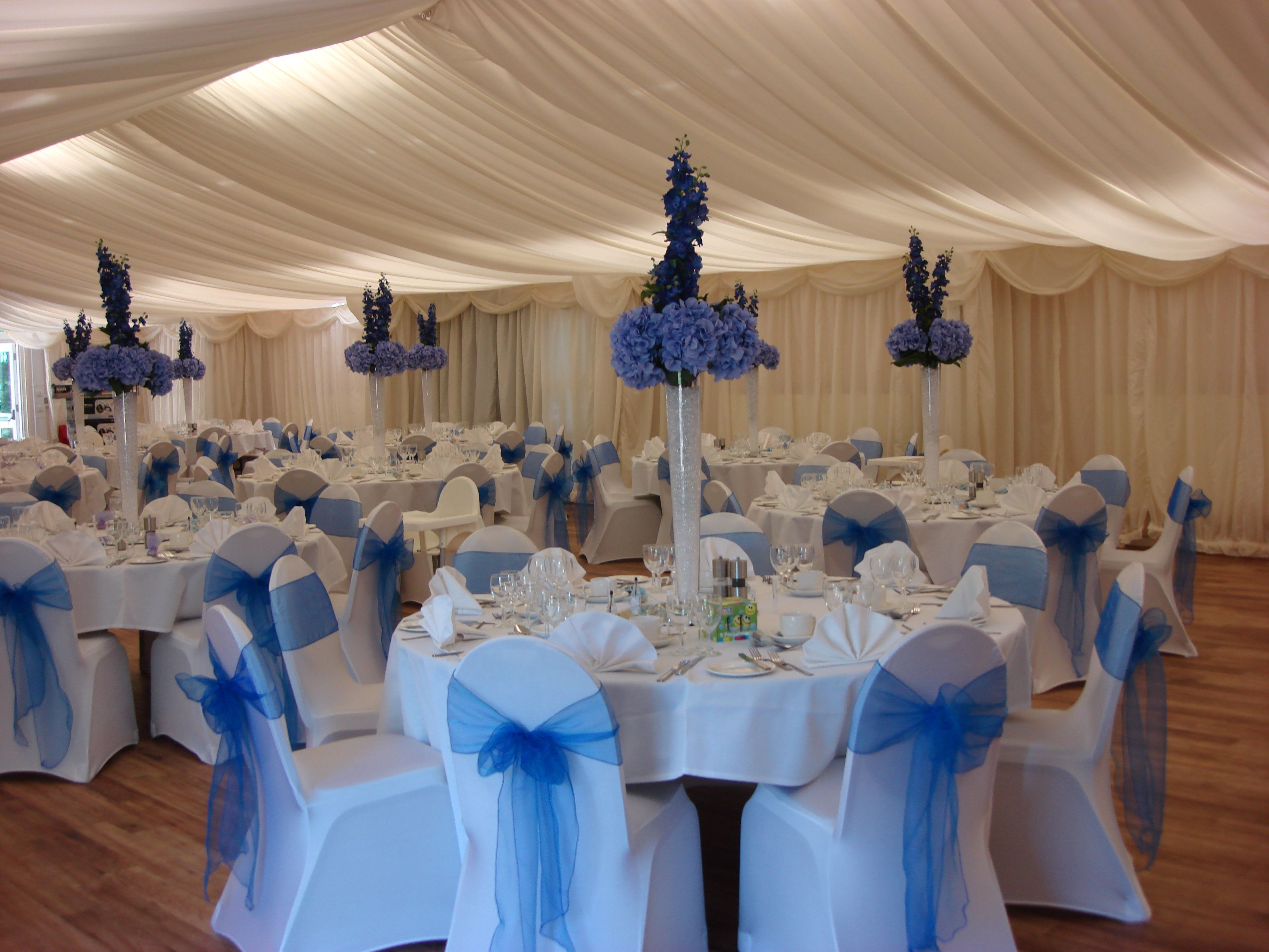 Royal Blue Table Decorations