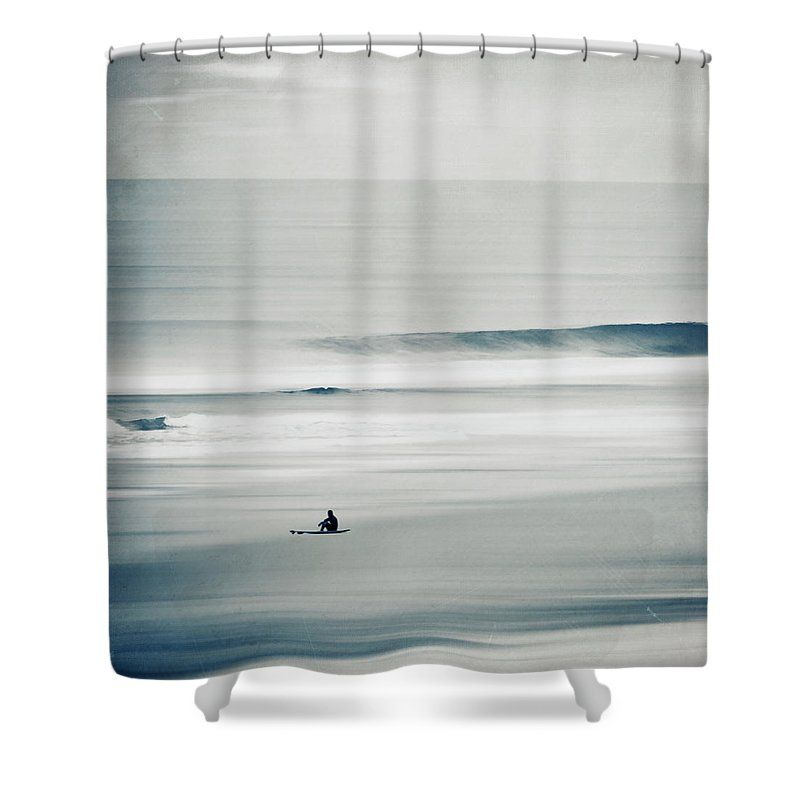 Wash Away Surfer And Waves Shower Curtain For Sale By Dirk